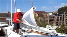 How to roll the mainsail